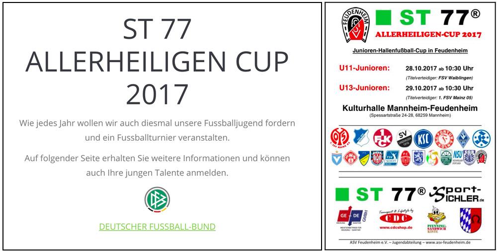 Спонсор турнира по футболу ST77 ALLERHEILINGEN CUP